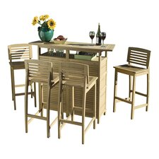 Bali Hai 5 Piece Bar Height Dining Set