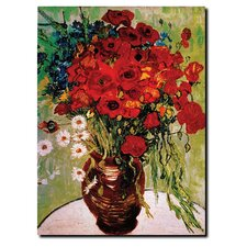 Daisies & Poppies Canvas Art by Vincent Van Gogh