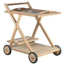 Teak Serving Cart in Natural