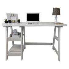 Trestle Writing Desk in White