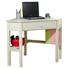 Crete Corner Writing Desk in White