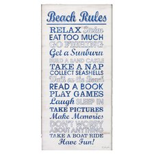 "Beach ""Rules"" Wall Art"