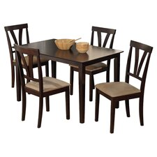 Tuscan 5 Piece Dining Set in Espresso