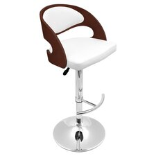 Pino Adjustable Barstool in White