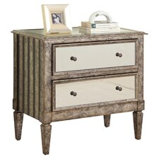 Lille 2 Drawer Chest in Antique Silver