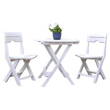 Evenlyn 3 Piece Dining Set in White