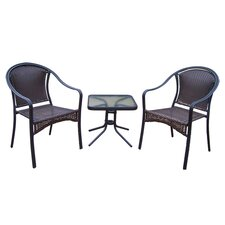 Tuscany 3 Piece Chair Set in Black