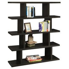 Northfield 5 Tier Block Bookshelf in Espresso