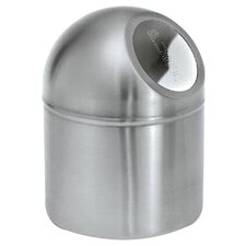 Intro Pushboy Trash Can in Matte Stainless Steel