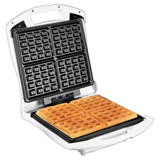 Four Square Belgian Waffle Maker in White
