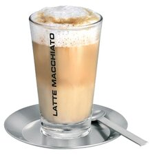 Cono Latte Macchiato Set in Stainless Steel