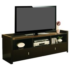 "Novelty 60"" TV Stand in Dark Brown"