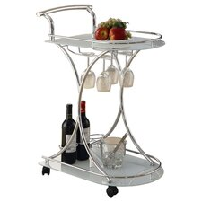 Whisper Bar Cart in Chrome