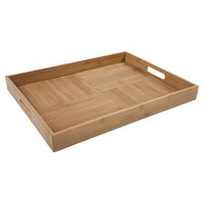 Criss-Cross Rectangular Serving Tray in Natural