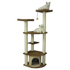 "64"" Classic Cat Tree in Beige"