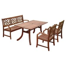 Atlantic 4 Piece Dining Set in Natural