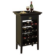 Belvidere 16 Bottle Wine Cabinet in Distressed Black