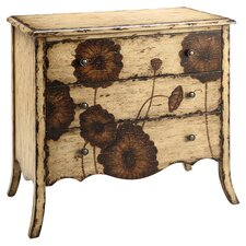 Poppy 3 Drawer Chest in Cream