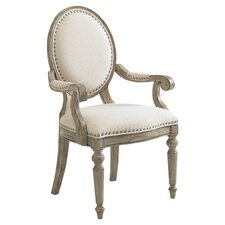 Byerly Arm Chair in Soft Taupe Gray