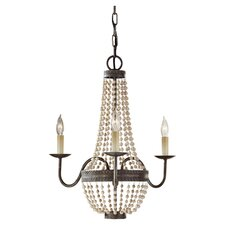 Charlotte 3 Light Chandelier in Bronze