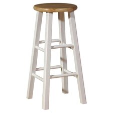 Barstool in White & Natural