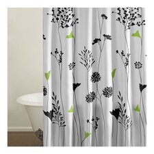 Lily Shower Curtain in White & Green