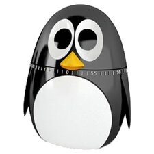 Kikkerland Penguin Timer in Black