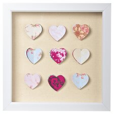 Hearts Corsage Wall Art in Beige