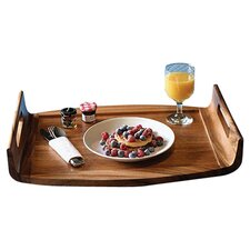 Acacia Reversible Serving Tray in Brown