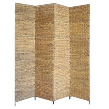 Water Hyacinth 4 Panel Room Divider in Natural