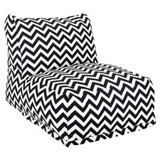 Zig Zag Bean Bag Lounger in Black