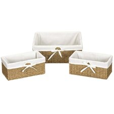 Seagrass 3 Piece Set Utility Baskets