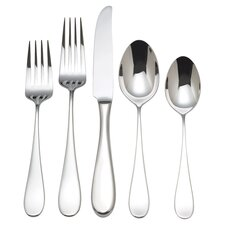 Dalton 5 Piece Flatware Set in Stainless Steel