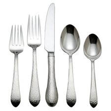 Venice 5 Piece Flatware Set in Brushed Stainless Steel