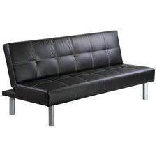 Merano Convertible Sofa in Black