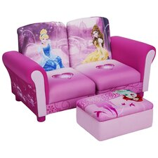 Disney Princess Kids Sofa and Ottoman