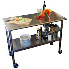 EcoStorage Kitchen Cart in Stainless Steel