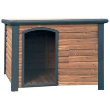 K-9 Lodge Dog House in Cedar & Green