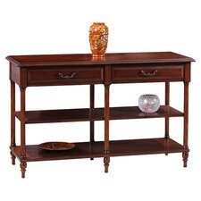 Claridge Tier Console Table in Cherry