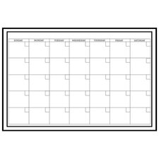 Monthly Dry Erase Wall Calendar in White
