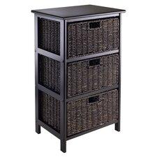 Omaha Basket Storage Cabinet in Black