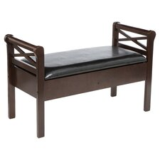 Warrenton Storage Bench in Espresso