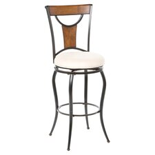 "Pacifico 30"" Swivel Barstool in Black"
