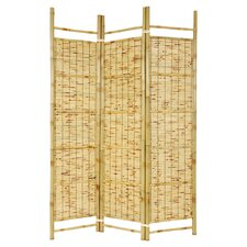 Burnt Bamboo Shoji 3 Panel Room Divider