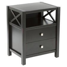 Anna End Table in Antique Black