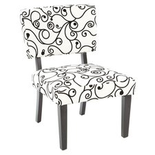Taylor Slipper Chair in Black & White