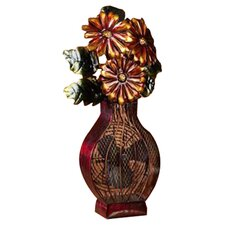 Flower Vase Table Fan in Red