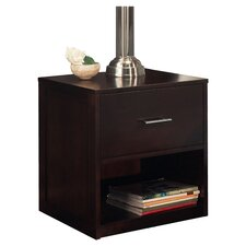 Modera 1 Drawer Nightstand in Brown
