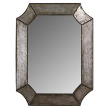 Elliot Wall Mirror in Distressed Silver