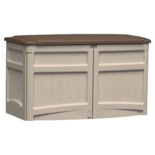 Suncast Deck Storage Shed in Light Taupe & Chocolate
